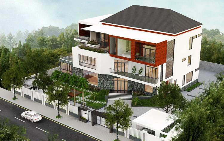 Thiết kế Biệt thự sân vườn 3 tầng hiện đại